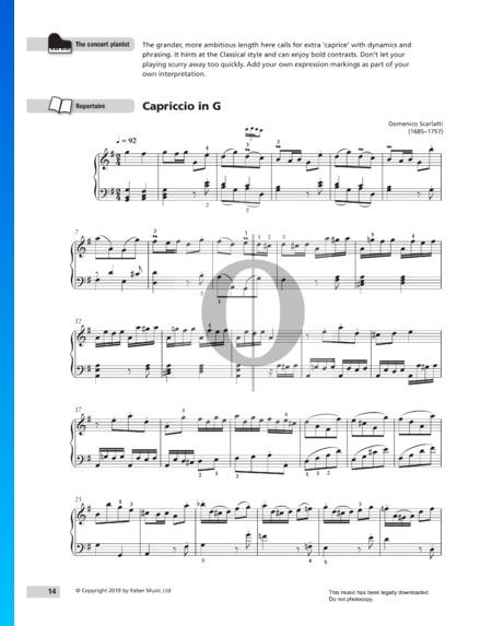 Capriccio in G Major, K 63 Sheet Music