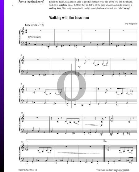 Walking With The Bass Man Musik-Noten