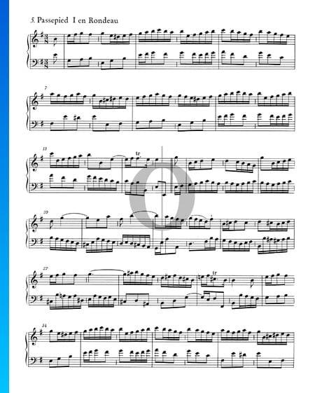 Englische Suite Nr. 5 e-Moll, BWV 810: 5./6. Passepied I und II Musik-Noten