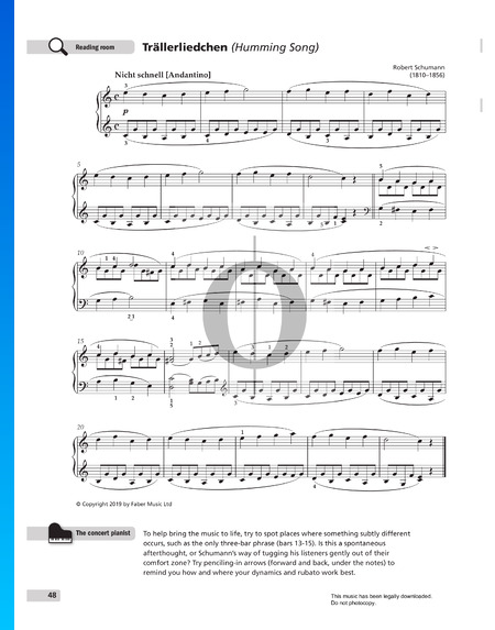 Humming Song, Op. 68 No. 3 Sheet Music