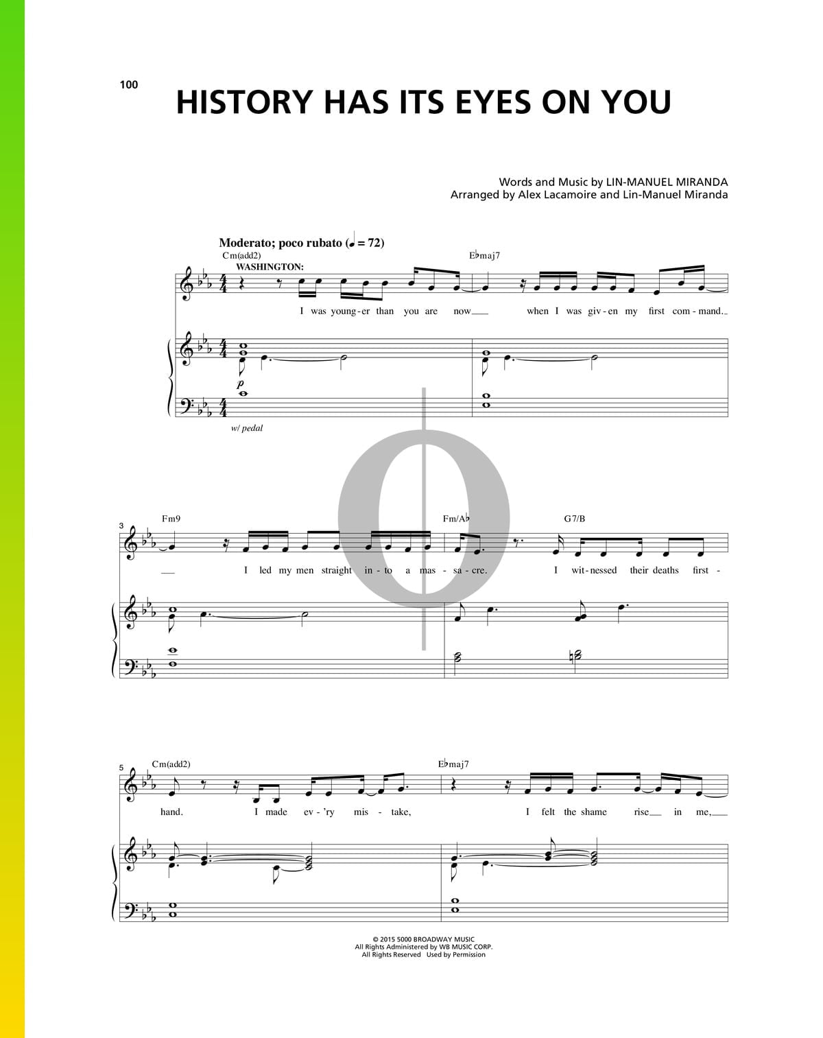 ▷ History Has Its Eyes On You Sheet Music (Piano, Voice) - PDF