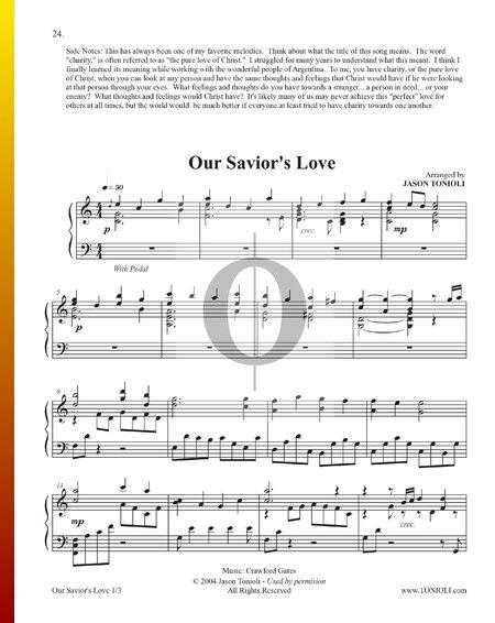 Our Savior's Love Sheet Music