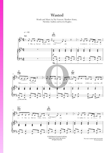 Wasted Sheet Music