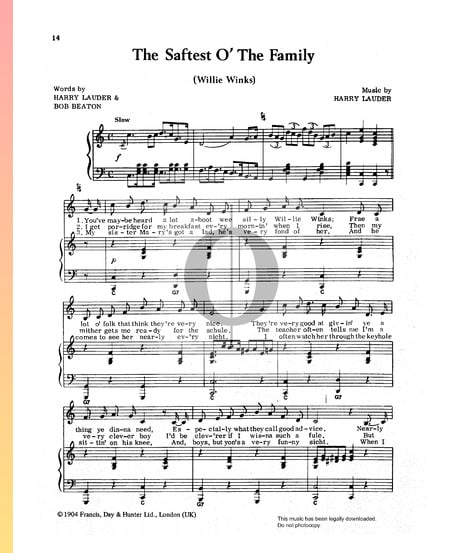 The Saftest O' The Family Sheet Music