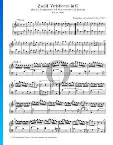 Douze Variations en Do Majeur, KV 265 (300e)