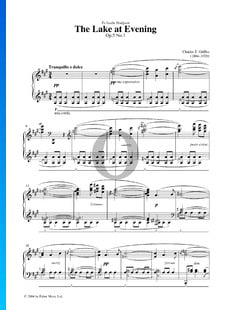 The Lake At Evening, Op. 5 n.º 1
