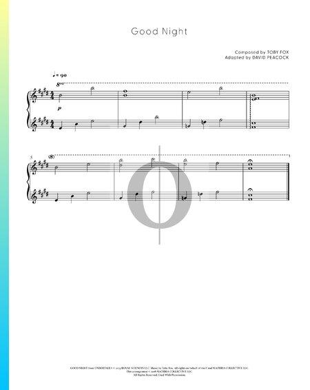 Good Night Sheet Music