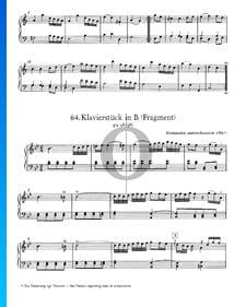 Klavierstück in B-Dur, KV 9b (5b): Fragment
