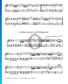 Piano Piece in B Major, KV 9b (5b): Fragment