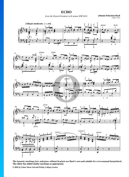 French Overture, BWV 831: 11. Echo Sheet Music
