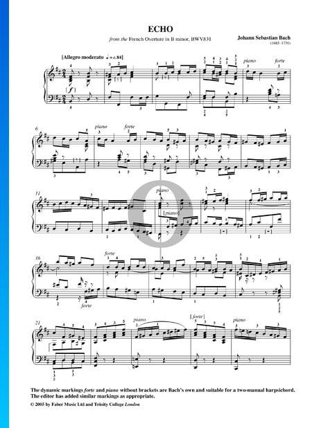 Obertura en estilo francés, BWV 831: 11. Echo Partitura