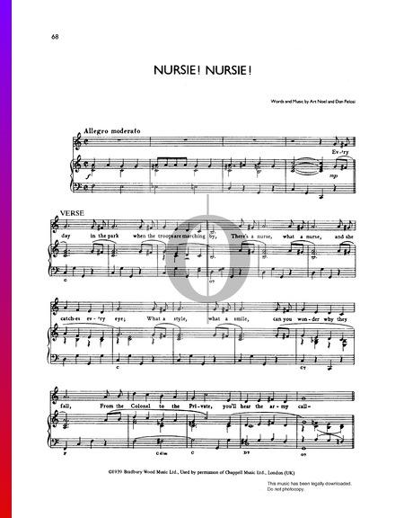 Nursie! Nursie! Sheet Music