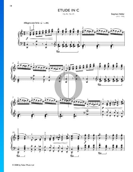 Etüde in C-Dur, Op. 46 Nr. 24 Musik-Noten