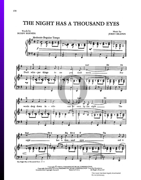 The Night Has A Thousand Eyes Partition