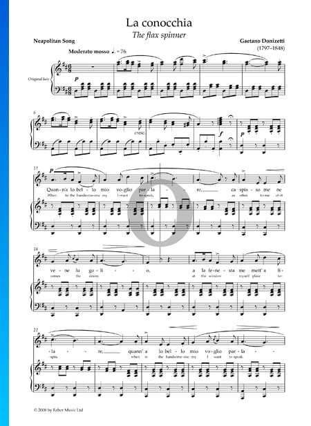 La conocchia Sheet Music