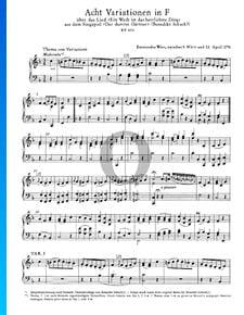8 variaciones en fa mayor, KV 613