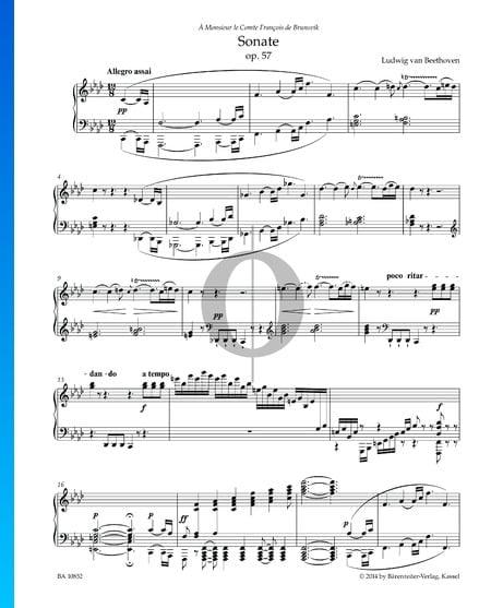 Sonate Appassionata, Op. 57: 1. Allegro assai Musik-Noten