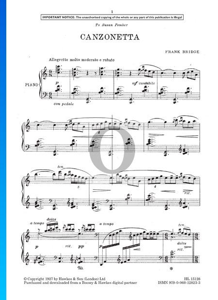 Canzonetta Musik-Noten
