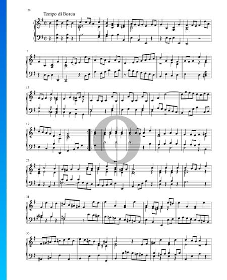 Partita in E Minor, BWV 1002: 7. Tempo di Borea Sheet Music