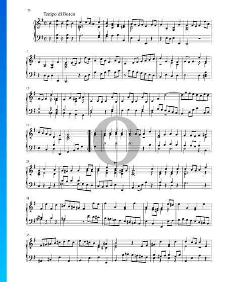 Partita in e-Moll, BWV 1002: 7. Tempo di Borea Musik-Noten