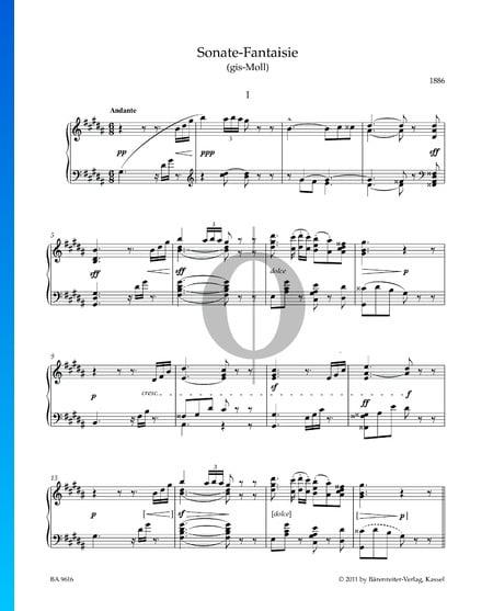 Sonata-Fantaisie in G-sharp Minor: 1. Andante Sheet Music