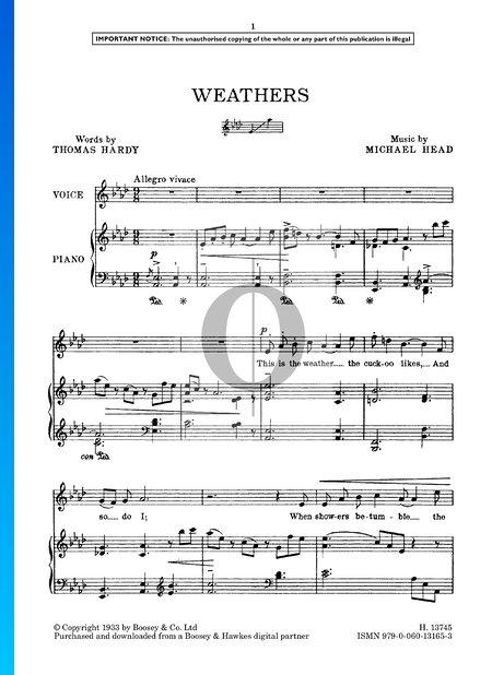 Weathers Sheet Music