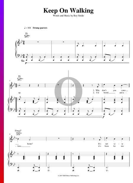 Keep On Walking Musik-Noten