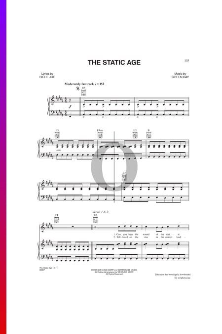 The Static Age Sheet Music