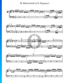 Piano Piece in G Major, No. 50 (Fragment)