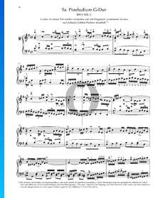 Prélude en Sol Majeur, BWV 902/ 1
