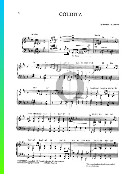 Colditz March Musik-Noten