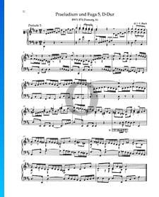 Prelude D Major, BWV 874