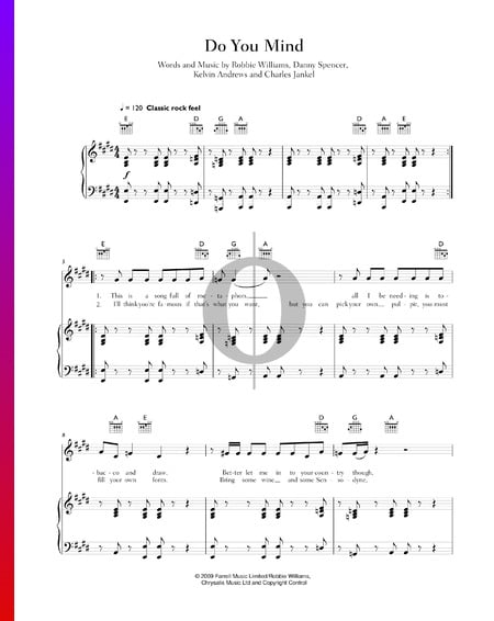 Do You Mind Sheet Music