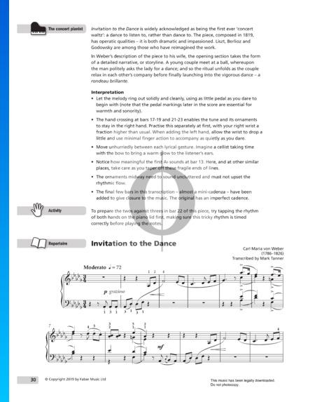 Aufforderung zum Tanz, Op. 65 Musik-Noten