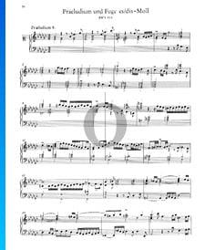 Praeludium 8 es-Moll, BWV 853