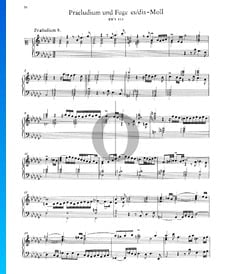 Prelude 8 E-flat Minor, BWV 853