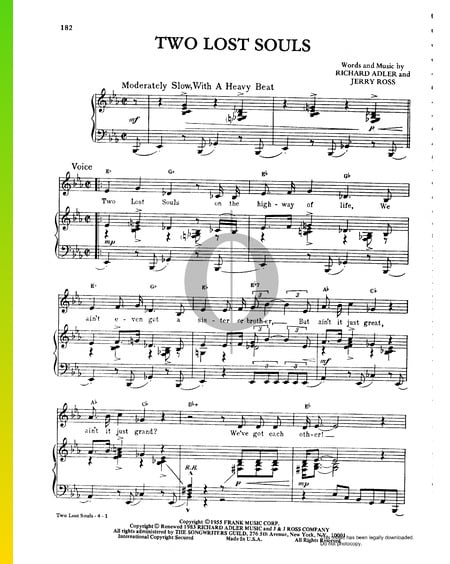 Two Lost Souls Sheet Music