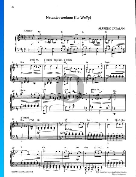 Ne adro lontana Sheet Music