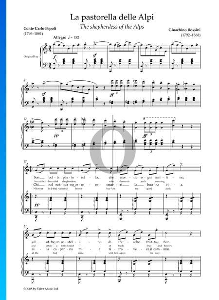 La pastorella delle Alpi Musik-Noten