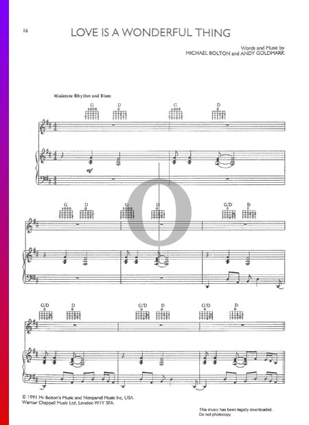 Love Is A Wonderful Thing Partitura