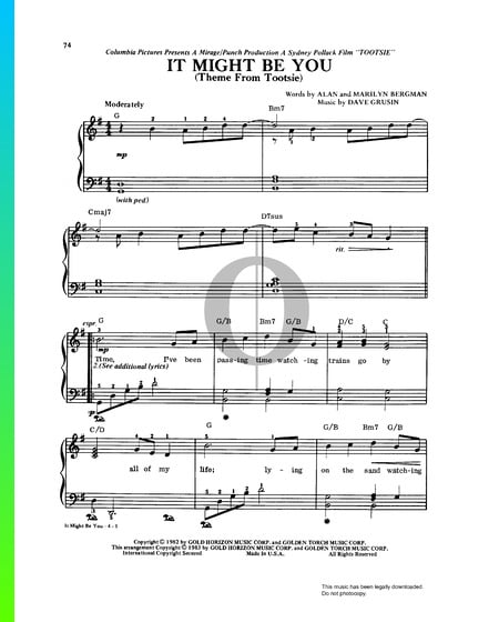 It Might Be You Sheet Music