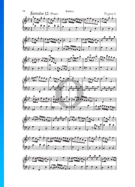 Fantasie, Douzaine III Nr.12: Allegro, TWV 33:36 Musik-Noten