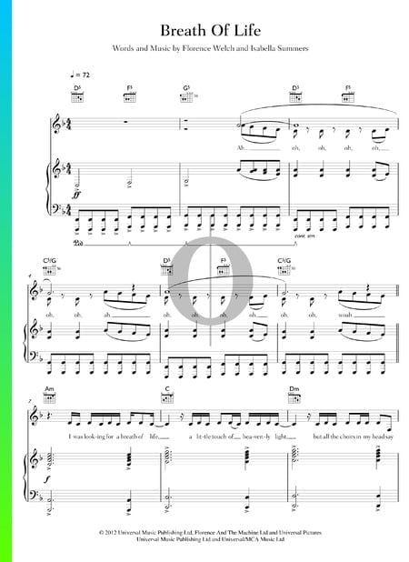 Breath Of Life Sheet Music