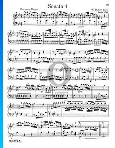 Sonata n.º 4, Wq 49: 1.  Un poco Allegro
