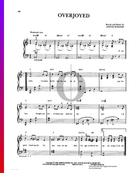 Overjoyed Sheet Music