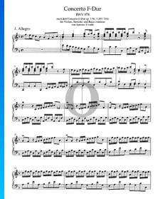 Concierto en fa mayor, BWV 978: 1. Allegro