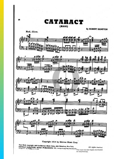 Cataract Rag Musik-Noten