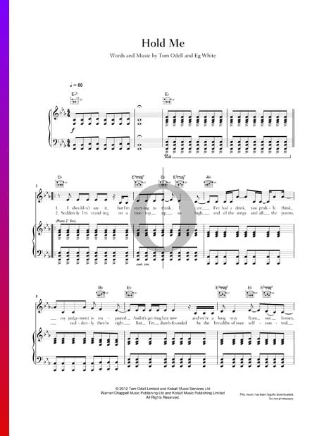 Hold Me Musik-Noten