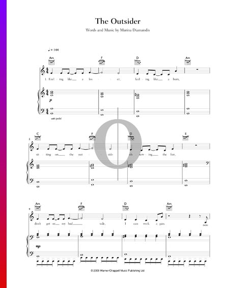 The Outsider Sheet Music