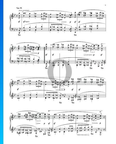 Variationen und Fuge über ein Thema von Händel, Op. 24: Variation IX Musik-Noten